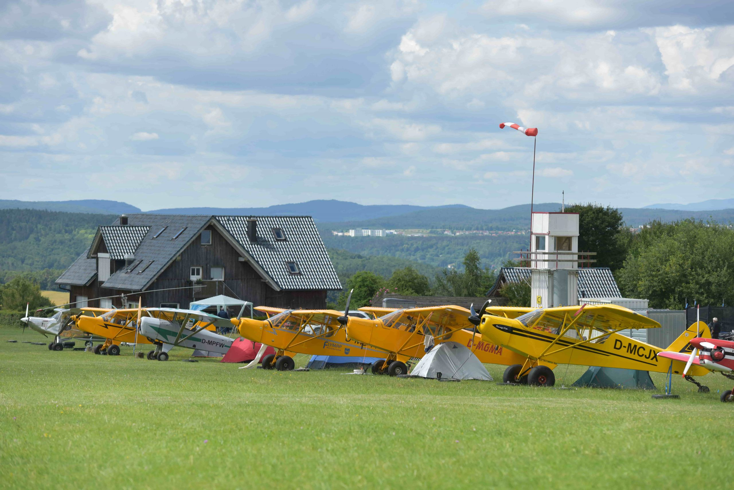 Dolmar Spornradtreffen Flugplatz Camp Dolmar