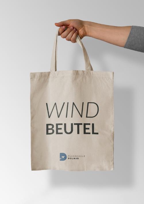 Stoffbeutel Windbeutel Flugschule Dolmar